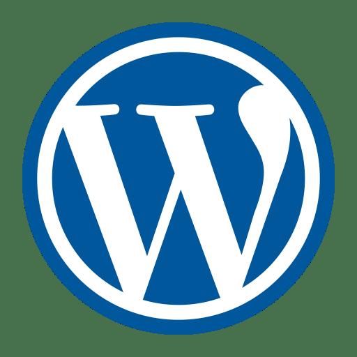 WordPress logo in blue